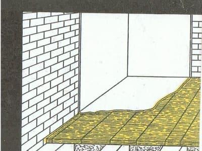 Rys.3 Stosowanie płyt do izolacji podłogi