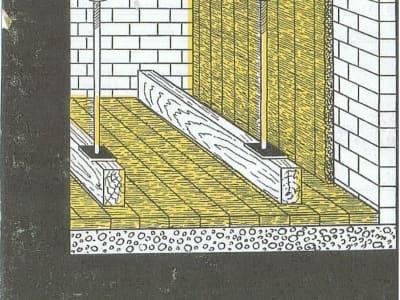 Rys.2 Zastosowanie płyt do izolacji ścian i podłóg